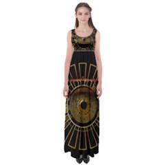 Eye Technology Empire Waist Maxi Dress