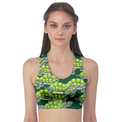 Seamless Tile Background Abstract Sports Bra