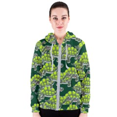 Seamless Tile Background Abstract Women s Zipper Hoodie