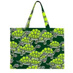 Seamless Tile Background Abstract Zipper Large Tote Bag