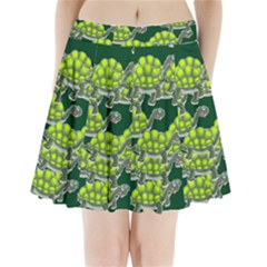 Seamless Tile Background Abstract Pleated Mini Skirt