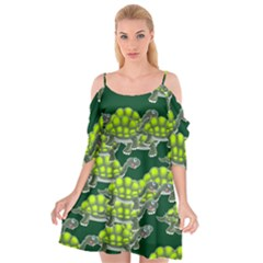 Seamless Tile Background Abstract Cutout Spaghetti Strap Chiffon Dress