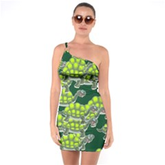 Seamless Tile Background Abstract One Soulder Bodycon Dress
