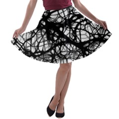 Neurons Brain Cells Brain Structure A Line Skater Skirt