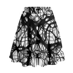 Neurons Brain Cells Brain Structure High Waist Skirt