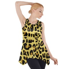Animal Fur Skin Pattern Form Side Drop Tank Tunic