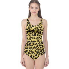 Animal Fur Skin Pattern Form One Piece Swimsuit