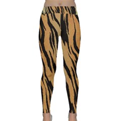 Animal Tiger Seamless Pattern Texture Background Classic Yoga Leggings