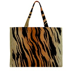 Animal Tiger Seamless Pattern Texture Background Zipper Mini Tote Bag