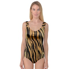 Animal Tiger Seamless Pattern Texture Background Princess Tank Leotard