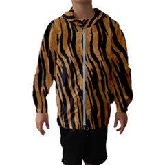 Animal Tiger Seamless Pattern Texture Background Hooded Wind Breaker (kids)