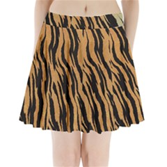 Animal Tiger Seamless Pattern Texture Background Pleated Mini Skirt