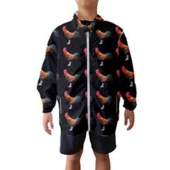 Background Pattern Chicken Fowl Wind Breaker (kids)