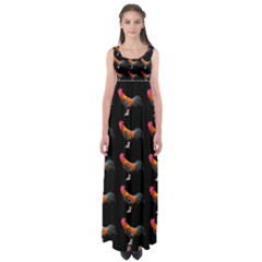Background Pattern Chicken Fowl Empire Waist Maxi Dress