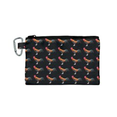 Background Pattern Chicken Fowl Canvas Cosmetic Bag (small)