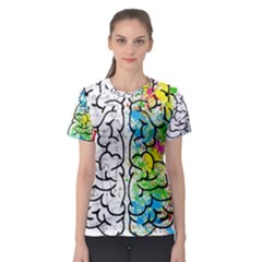 Brain Mind Psychology Idea Hearts Women s Sport Mesh Tee