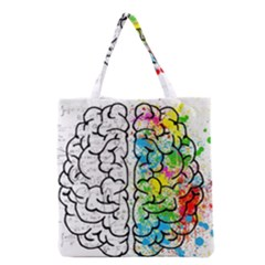 Brain Mind Psychology Idea Hearts Grocery Tote Bag