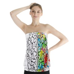 Brain Mind Psychology Idea Hearts Strapless Top