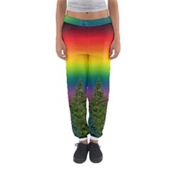 Christmas Colorful Rainbow Colors Women s Jogger Sweatpants