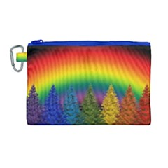 Christmas Colorful Rainbow Colors Canvas Cosmetic Bag (large)