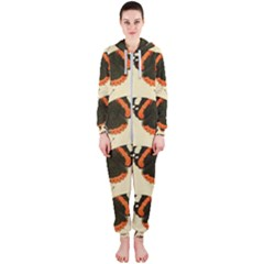 Butterfly Butterflies Insects Hooded Jumpsuit (ladies)