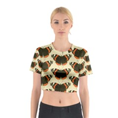 Butterfly Butterflies Insects Cotton Crop Top