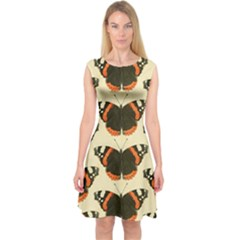Butterfly Butterflies Insects Capsleeve Midi Dress