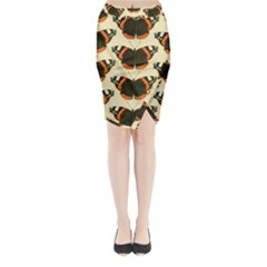 Butterfly Butterflies Insects Midi Wrap Pencil Skirt