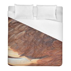 Feather Chicken Close Up Red Duvet Cover (full/ Double Size)