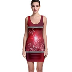 Christmas Candles Christmas Card Bodycon Dress