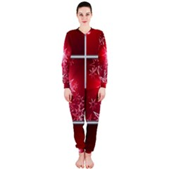 Christmas Candles Christmas Card Onepiece Jumpsuit (ladies)