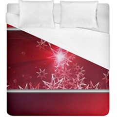 Christmas Candles Christmas Card Duvet Cover (king Size)