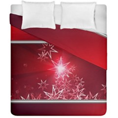 Christmas Candles Christmas Card Duvet Cover Double Side (california King Size)