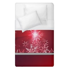 Christmas Candles Christmas Card Duvet Cover (single Size)