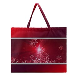 Christmas Candles Christmas Card Zipper Large Tote Bag