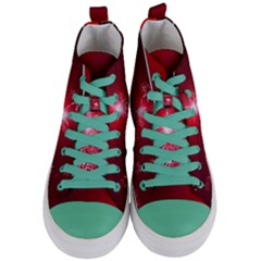 Christmas Candles Christmas Card Women s Mid Top Canvas Sneakers