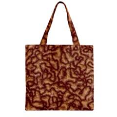 Brain Mass Brain Mass Coils Zipper Grocery Tote Bag