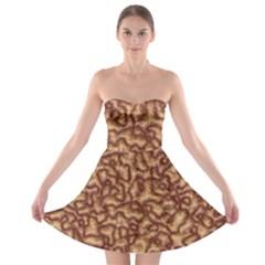 Brain Mass Brain Mass Coils Strapless Bra Top Dress