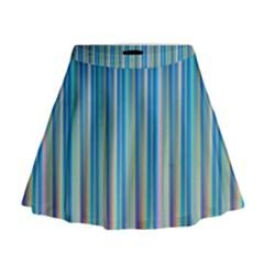 Colorful Color Arrangement Mini Flare Skirt