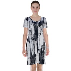 Pattern Structure Background Dirty Short Sleeve Nightdress