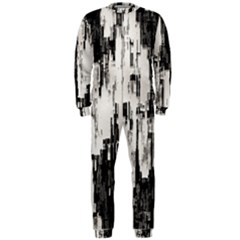 Pattern Structure Background Dirty Onepiece Jumpsuit (men)