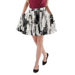 Pattern Structure Background Dirty A Line Pocket Skirt