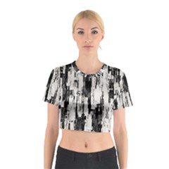 Pattern Structure Background Dirty Cotton Crop Top