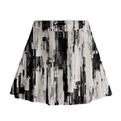 Pattern Structure Background Dirty Mini Flare Skirt