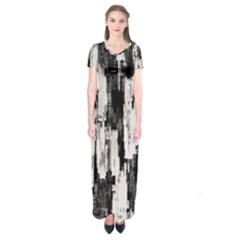 Pattern Structure Background Dirty Short Sleeve Maxi Dress