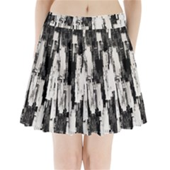 Pattern Structure Background Dirty Pleated Mini Skirt