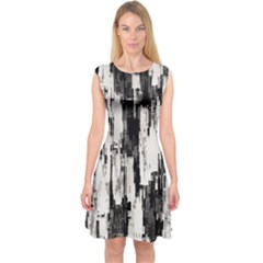 Pattern Structure Background Dirty Capsleeve Midi Dress