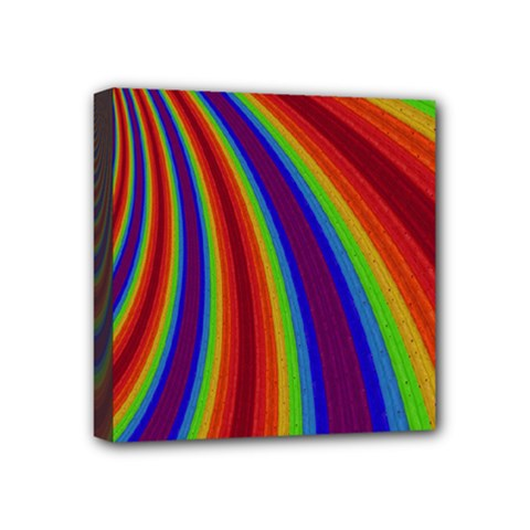 Abstract Pattern Lines Wave Mini Canvas 4  X 4