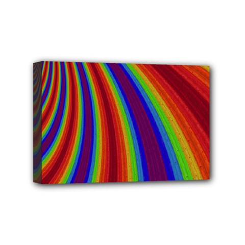 Abstract Pattern Lines Wave Mini Canvas 6  X 4