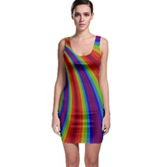 Abstract Pattern Lines Wave Bodycon Dress